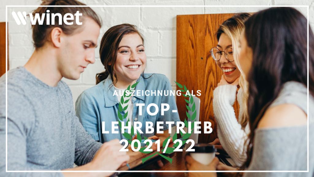 SIQT - Top Lehrbetrieb 2021-2022 - Winet